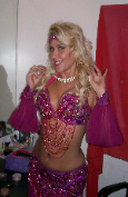Raspberry Paharonics of Egypt belly dance costume