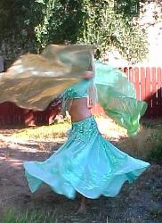 belly dance double veil