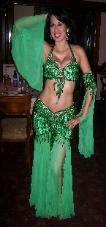 Green Bella Belly dance costume