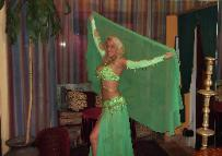 Green Bella Belly Dance costume for sale